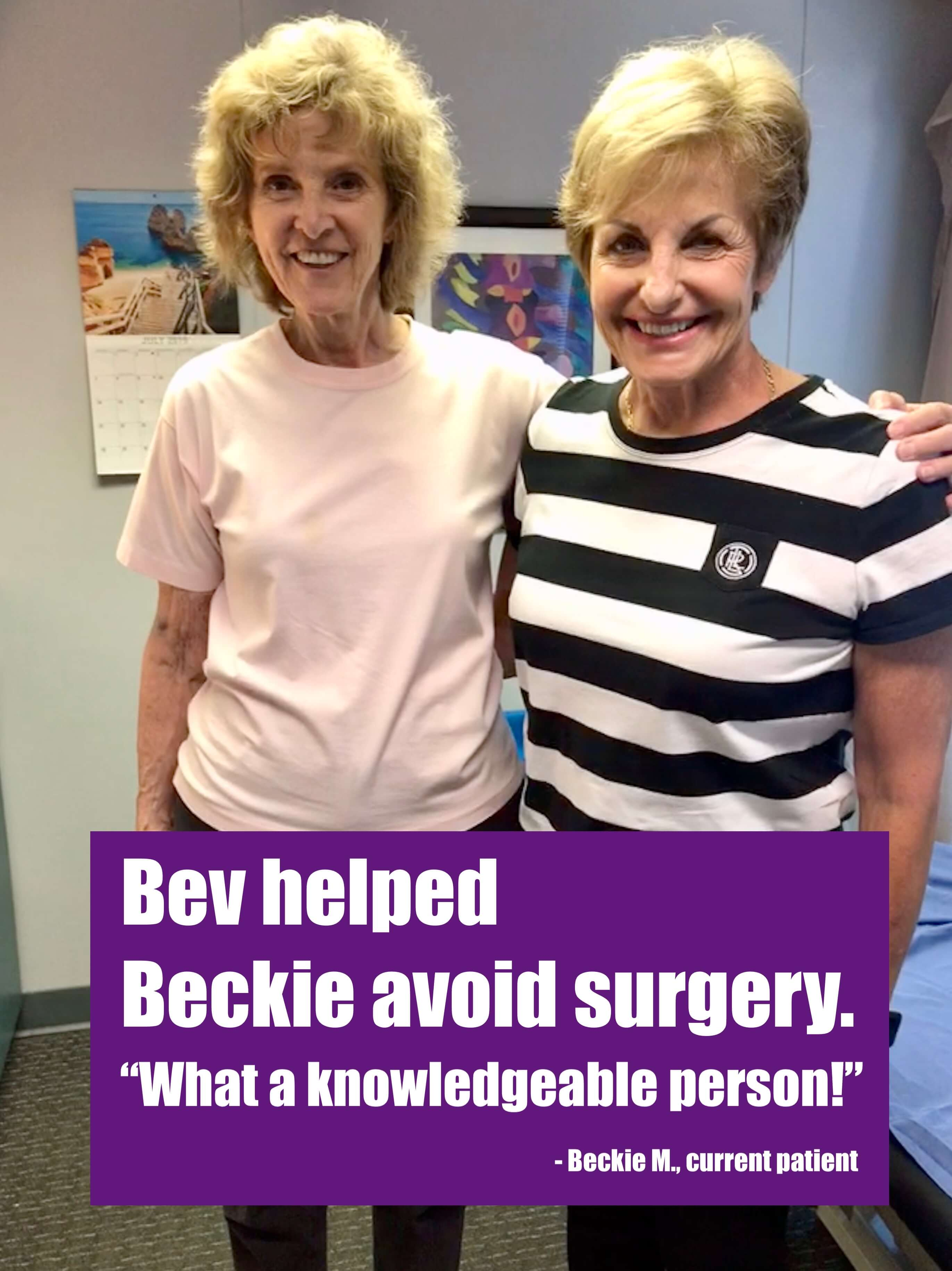 Testimonial Bev and Beckie Mara